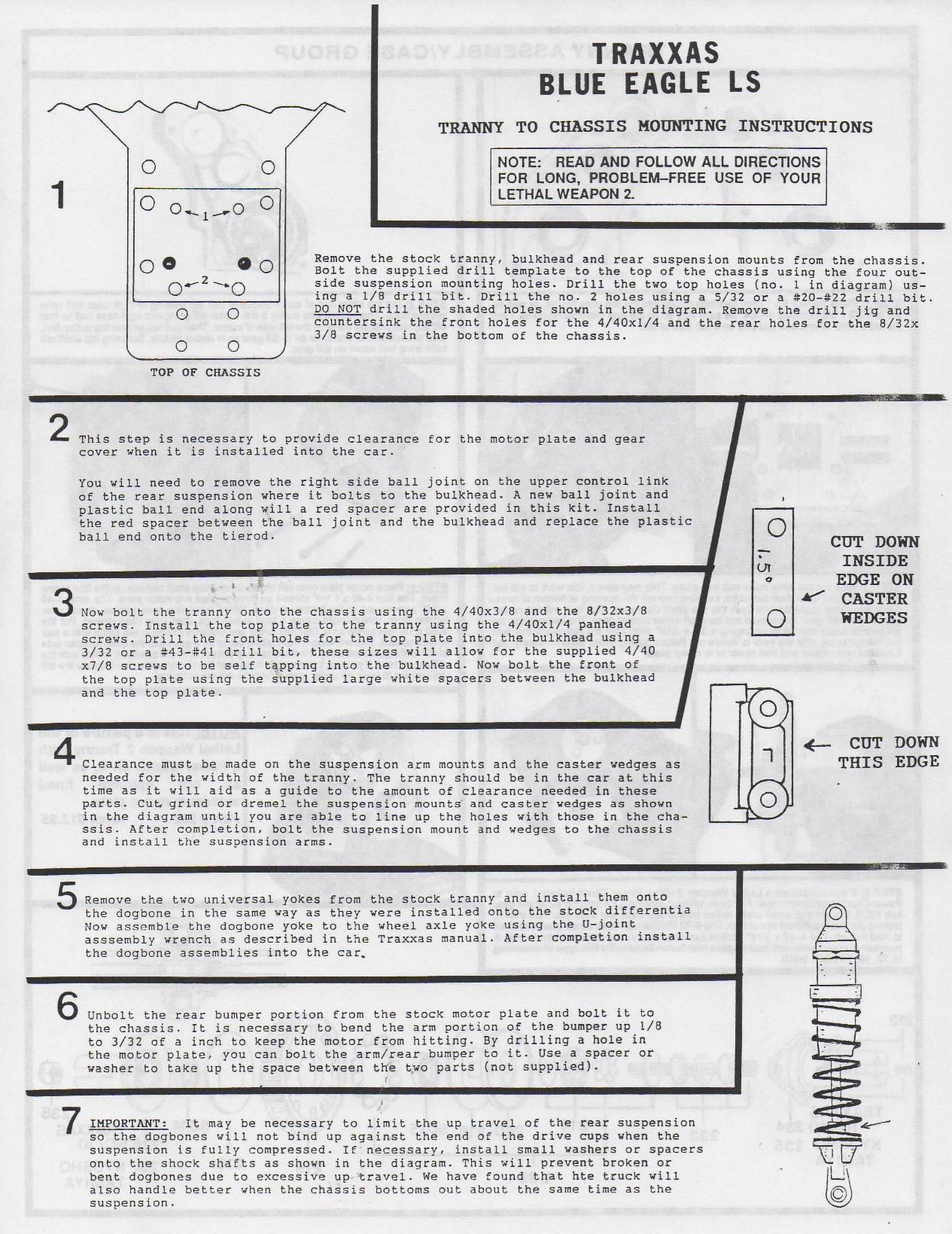 Factory Works Rc Motorsports Parts Instructions